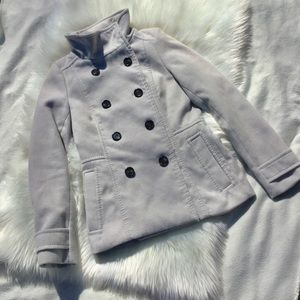 H&M Light Grey Pea Coat
